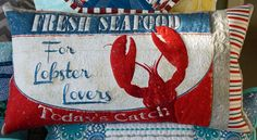 "Andrea from Tideline Quilts graciously shares her tips on how to make your own one of a kind ""Art Quilted"" pillow like the fun lobster one shown quilted with #Auriifl 50wt thread!  For all of Andrea's tips please visit http://www.tidelinequilts.com/Blog.html?entry=art-quilted-pillows-a-tutorial"