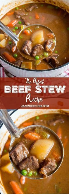 The Perfect Beef Stew Dinner Recipes beef stew recipe Best Soup Recipes, Beef Recipes For Dinner, Chowder Recipes, Paleo Dinner, Slow Cooker Soup, Slow Cooker Recipes, Crockpot Recipes, Cooking Recipes, Beef Stew Recipes