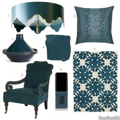 Color Obsession of the Week: Dark Teal  - HouseBeautiful.com