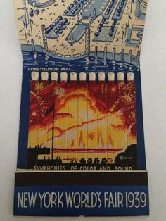 VTG Giant Feature Matchbook Souvenir NEW York World Fair 1939 | eBay