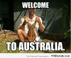 Welcome to Australia toad meme at PMSLweb.com