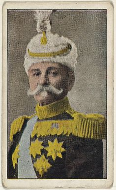 Card No. 5, King Peter of Servia, from the World War I Scenes series (T121) issued by Sweet Caporal Cigarettes, ca. 1914. The Metropolitan Museum of Art, New York. The Jefferson R. Burdick Collection, Gift of Jefferson R. Burdick (Burdick 246, T121.5)