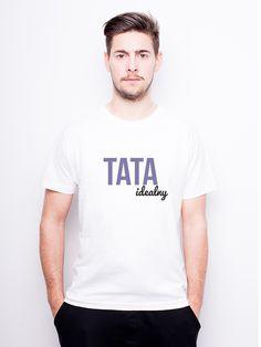 T-Shirt męski z nadrukiem - Tata Idealny w Allbag-Allprints na DaWanda.com