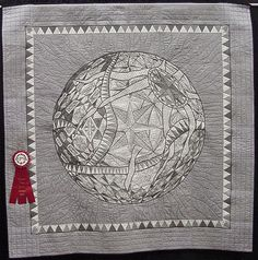 Irene Violette - Earth to Quilters. Second Place, Machine Embroidery, 2013 HSQG show (Arizona)