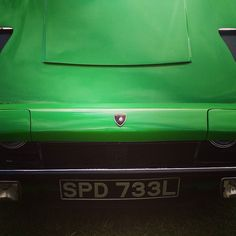 The mean snout of a Lamborghini Jarama 22 grand tourer.  From  Bertone by Marcello Gandini. #Lamborghini #jarama #gt #grandtourer #marcellogandini #mean  #kophillclimb #kophill #classiccar #classiclambo #lambo
