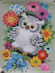 I love the flowers. The colors are great! I do not like the owl for a tattoo!