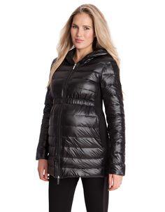 Black Maternity Puffer Jacket
