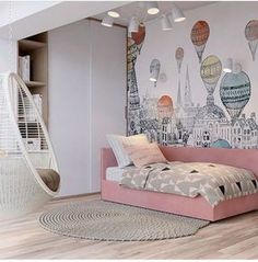 Pretty room - My WordPress Website Girls Bedroom, Girl Bedroom Designs, Baby Bedroom, Trendy Bedroom, Baby Room Decor, Girl Room, Bedroom Decor, Ikea Bedroom, Cool Kids Rooms