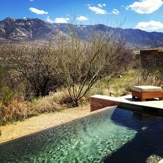 Gorgeous desert view from one of the Miraval Villas...I just want that pool!!