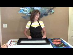 How to make your own frame for a silk painting.  August 2014 video blog by Pamela Glose, http://www.mysilkart.com/how-to-frame-a-silk-painting-without-glass/