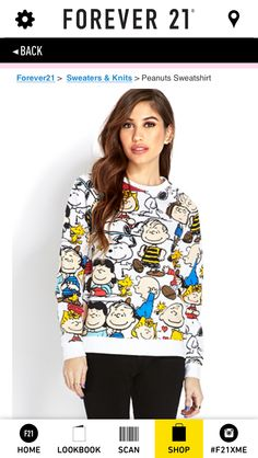 Idk but I thought this was so cute! Charlie Brown Comics Sweater