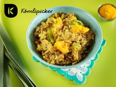 fried wild rice with pumpking mush and leek Wild Rice, Fries, Cereal, Vegan Recipes, Autumn, Breakfast, Food, Morning Coffee, Vegane Rezepte