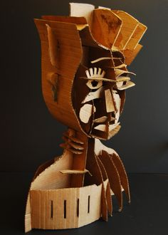 Naum Gabo inspired cardboard sculpture. lesson