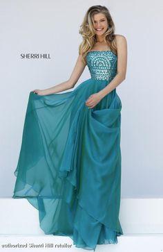 1984 Sherri Hill. Sherri Hill Prom. Long, blue green prom dress. Sherri Hill prom 2016. Sherri Hill designs. flowy prom dress. get prom ready.