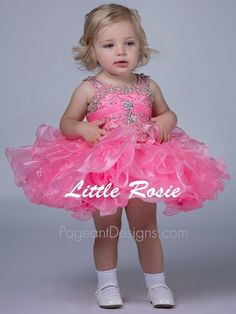 Little Girl Pagent Dresses Pink Beautiful 2015 Infant Cupcake Toddler Pageant Dresses Kids Wedding Dress For Girls Prom Flower Girl Dress Little Pageant Dresses From Girldressonline, $80.63| Dhgate.Com