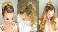 17 Meilleures Images Du Tableau Demi Queue De Cheval Hair Ideas