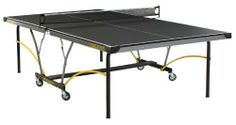 Stiga Synergy Indoor Table Tennis Table by Stiga. $499.99. Amazon.com                Create a fast-paced gaming environment in your basement, garage, or game room with the Stiga Synergy indoor table tennis table. The Synergy is rock-steady, with 1-3/4-inch steel self-opening legs and a 2-inch steel apron that provides extra table support. It's also a breeze to move the table from room to room thanks to the 3-inch mag ball-bearing caster wheels. Most importantly, the table plays...
