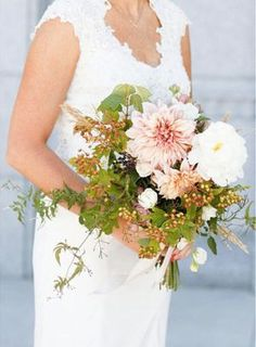 Bridal Bouquets and Wedding Flowers: Spring Bouquet with Pink, White and Green