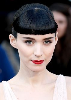 Rooney Mara's bangs--voted the best beauty moment of 2012 by the Hollywood Reporter!