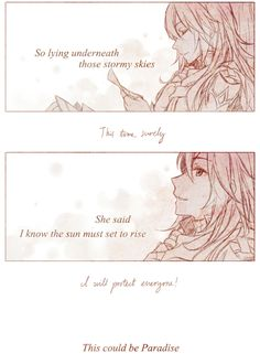 Found this on Tumblr by Rynnae. This is so beautiful! Part 8 #paradise #FireEmblemAwakening