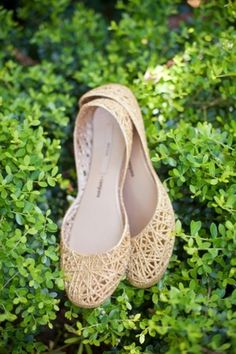Wedding Shoes: Elegant Flats  // Photo by Tim Will Photography on Southern Weddings