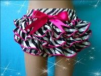 Satin zebra bloomers!  Fit NB to 3T available at www.tutucutebowtique.net