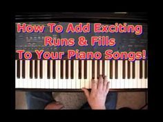 How To Add Exciting Runs & Fills To Your Piano Songs! Piano Songs, Piano Sheet Music, Piano Chord, Piano Jazz, Piano Lessons, Music Lessons, Best Piano, Piano Teaching, Learning Piano