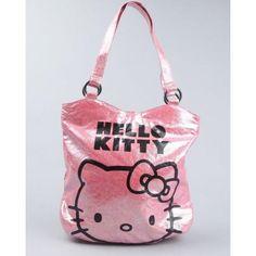 Hello Kitty - Women Hello Kitty Pink Rainbow Crinckle Tote - Pink  #Beso #HelloKitty #Deals