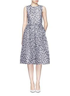 WHISTLES Pelt print dress