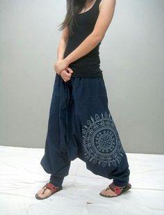 Blue harem pants