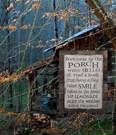 countri charm, countri life, countri place, porch idea, cabin front porch, porches, garden, design idea, cottag decor