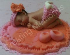 My LADYBUG Baby  Fondant cake topper decorations made by anafeke