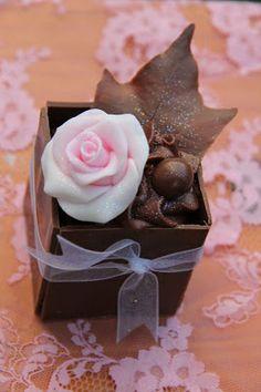 chocolate box with sugar rose