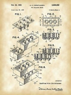 Lego Patent Digital Art by Stephen Younts - Lego Patent Fine Art Prints and Posters for Sale