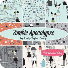 Zombie Apocalypse Fat Quarter Bundle Emily Taylor Design for Riley Blake Designs