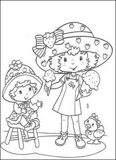 Disegni da colorare per bambini. Colorare e stampa Fragolina Dolcecuore 1