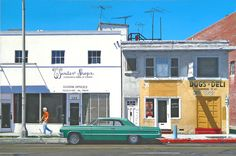 Downtown Paintings - Wonder Shops by Michael Ward Selling Paintings, Paintings For Sale, California Architecture, Office Dog, Great Minds Think Alike, Beach Cars, The 'burbs, Vintage California, Building Art
