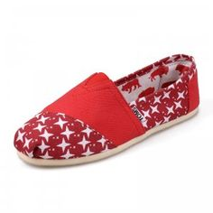 $27.00Canvas Nautical Red Womens Artist Toms Shoes [toms-149] :
