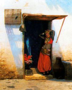 Woman of Cairo at Her Door Jean-Léon Gérôme