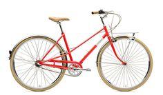 3-Gang Damenrad - Rot von Creme Cycles