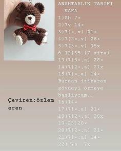 longing_braids Eveeet tells you the translation of a cute recipe . Crochet Bunny, Crochet Toys, Free Crochet, Crochet Dolls Free Patterns, Crochet Flower Patterns, Handmade Crafts, Diy And Crafts, Crochet Symbols, Crochet Keychain