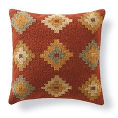 Fill your home with the timeless patterns, colors, and textures of our authentic Kilim Throw Pillows. When it comes to bringing an artful touch to chairs, benches, and sofas, simply nothing else compares. Covers are masterfully artisan-crafted on traditional kilim looms, making each pillow a one-of-a-kind creation. Group multiple designs for an even more dramatic impact. Kilim toss pillows in your choice of size and patternMinimally processed wool provides an authentic, rustic texture to the…