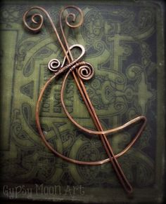 """ (via (1) Moon Shawl Pin- Copper Crescent Moon Hair Barrette or Shawl Pin) """