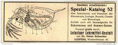 Original-Werbung/ Anzeige 1911 - SPEZIAL KATALOG MIKROSKOPIE / ZOOLOGIE / LEIPZIGER LEHRMITTEL - ANSTALT -ca.140 x 50 mm