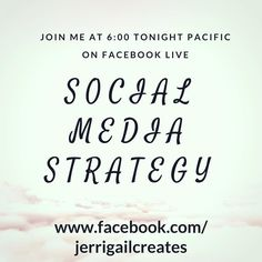 Need help with your strategy? Join me tonight to begin the discussion.  Direct link in profile.    _________________________  #socialmediastrategy #smm #marketing #socialmediatips #smallbusiness #businesswomen #jerrigailcreates #facebook