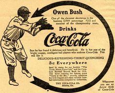 [Coke Code 342] 코카-콜라와 뗄레야 뗄 수 없는 스포츠 야구! 1900년 대 초기 코-크 야구광고는 그 날의 메이저리그 스타를 뽑아 함께 게재했답니다^^ 지금도 그런 광고가 있다면 광고를 통해 어떤 선수를 만나고 싶으세요?
