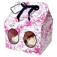 Set 3 cajas cupcakes flores Paper Cupcake cb5ef4b3fb93