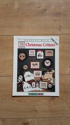 Barbara Mock Christmas Critters Cross Stitch Book Christmas