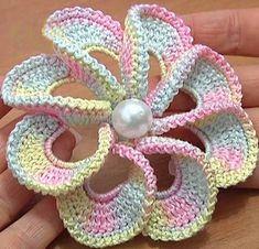 3D Spiral çiçek motifi