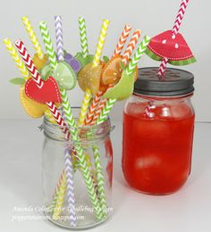Fruity straws for a summer party